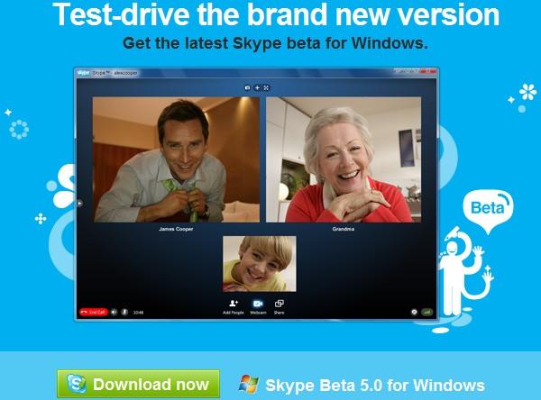 skype 5 0 beta Skype 5.0ın yeni beta versiyonu aynı anda 10 kişiyle video görüşme imkânı sunuyor