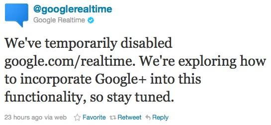 google realtime tweet Googleın Twitter ile anlaşması bitti, gerçek zamanlı arama özelliği geçici olarak askıya alındı