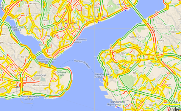 Yandex istanbul trafik - 2eb