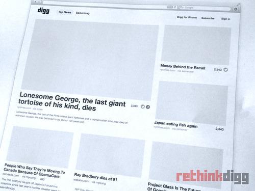 Yenilenmiş Digg'e ait fotoğraflar yayınlandı