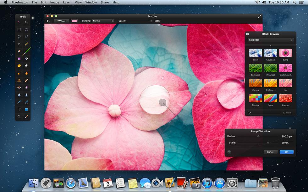 pixelmator-100812 Pixelmator iCloud ve Retina grafik desteğine kavuştu
