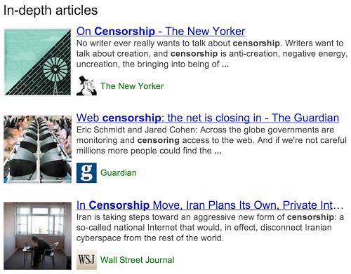 Google arama sonuçlarında geniş kapsamlı makaleler sunmaya başladı