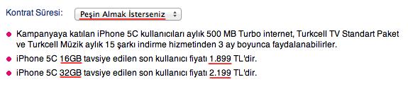 turkcell-iphone-5c-fiyatlari-pesin-311013