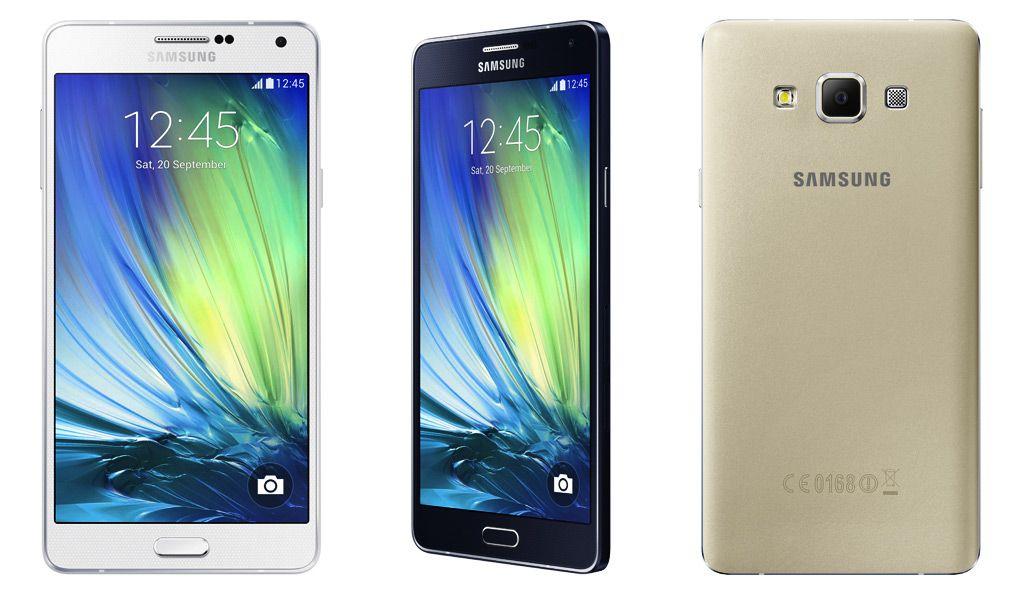 Samsung 5.5 inç ekranlı ve ince metal çerçeveli Galaxy A7'yi orta segmentin beğenisine sundu