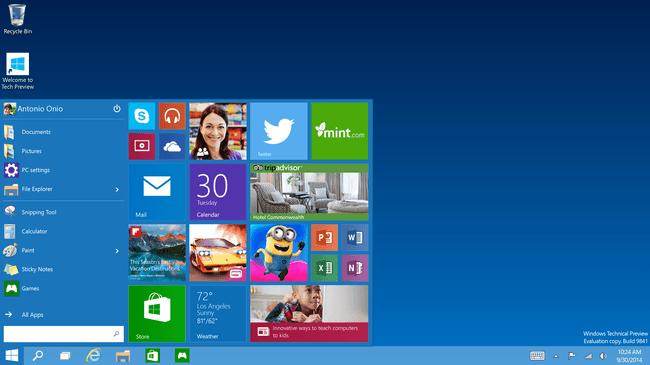 Windows Sürümleri Windows 10
