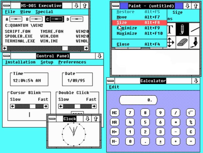 Windows Sürümleri Windows 2.0
