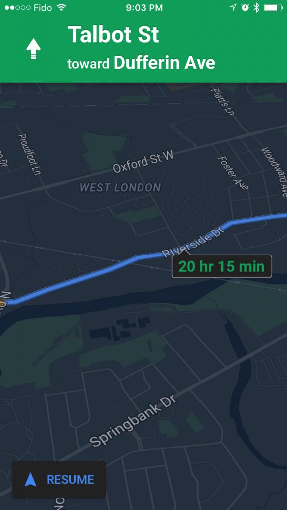 google-haritalar-ios-gece-modu