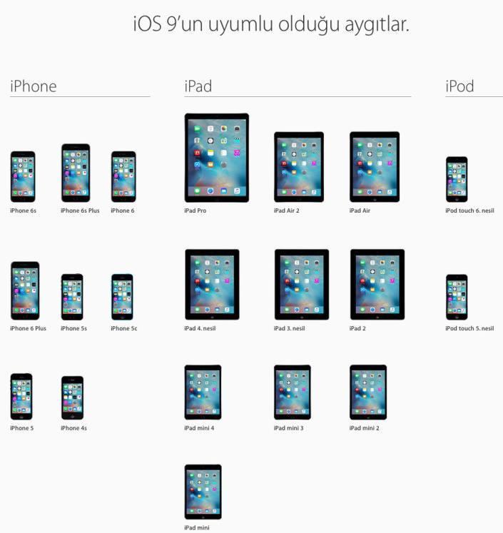 ios-9-destekleyen-cihazlar-160915