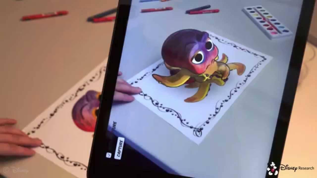Video: Disney boyama kitaplarına artırılmış gerçeklikle hayat veriyor
