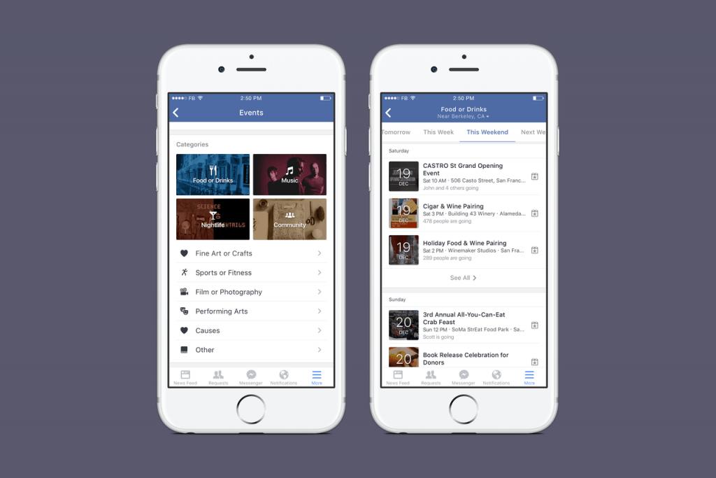 Facebook Etkinlikleri Keşif