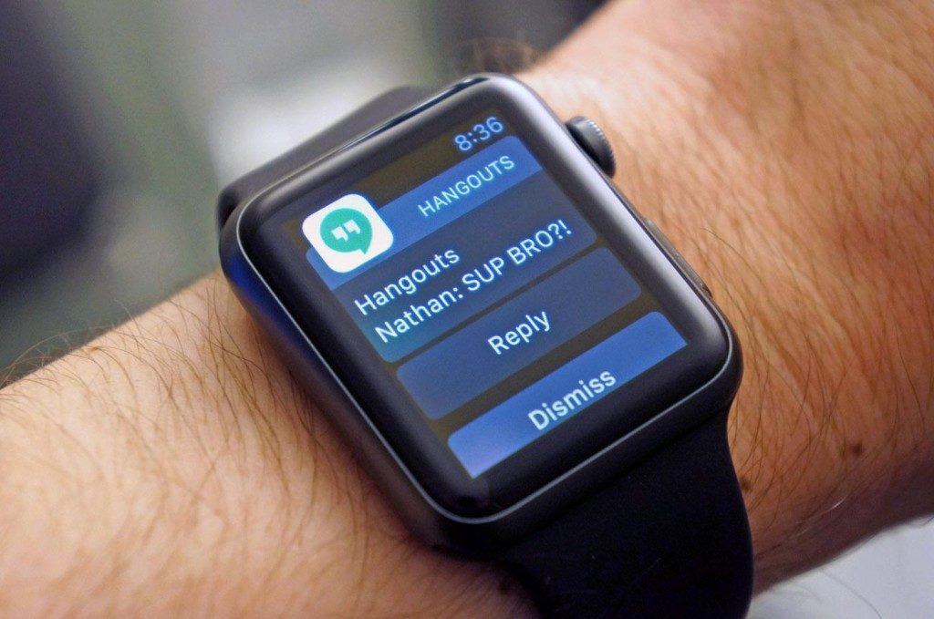 Google Hangouts iOS Apple Watch