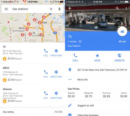 Google Maps iOS Akaryakıt Fiyatları
