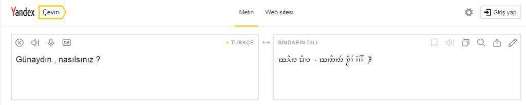 Yandex Çeviri Elfçe