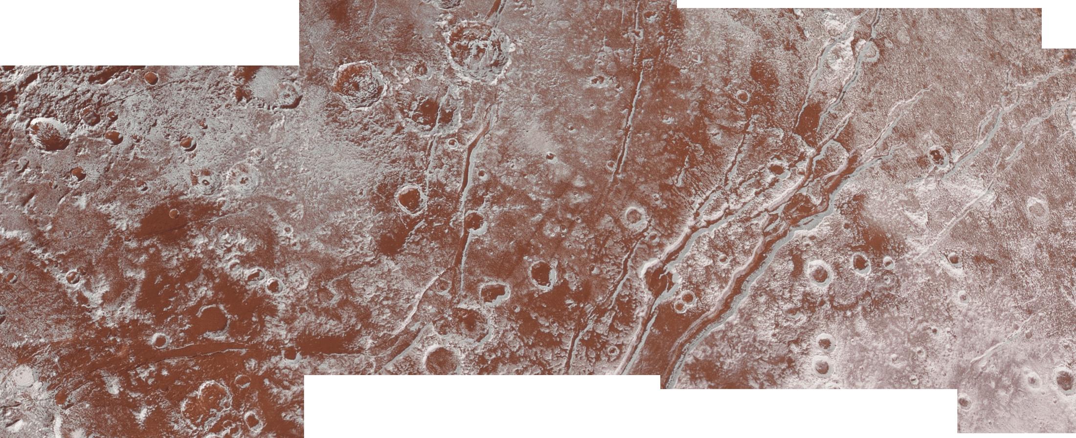 Viking Terra bölgesinin birleştirilmiş görüntüsü