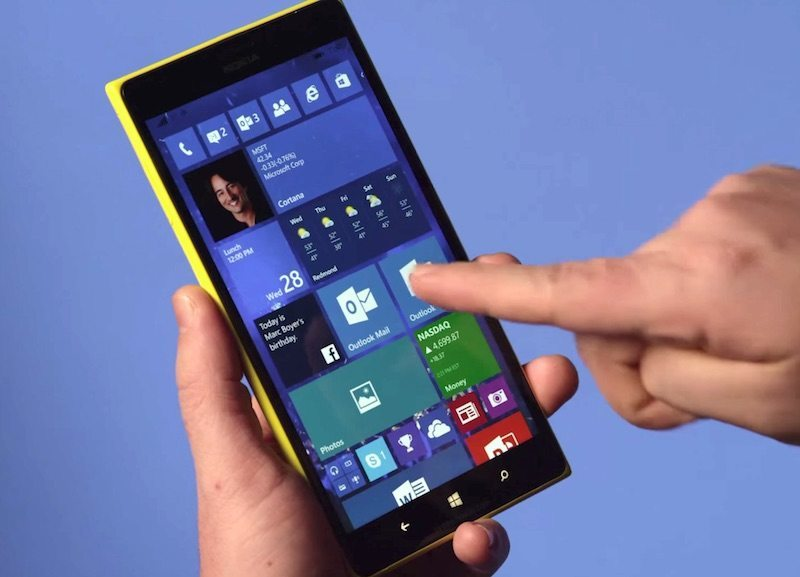 windows 10 mobile güncellemesi