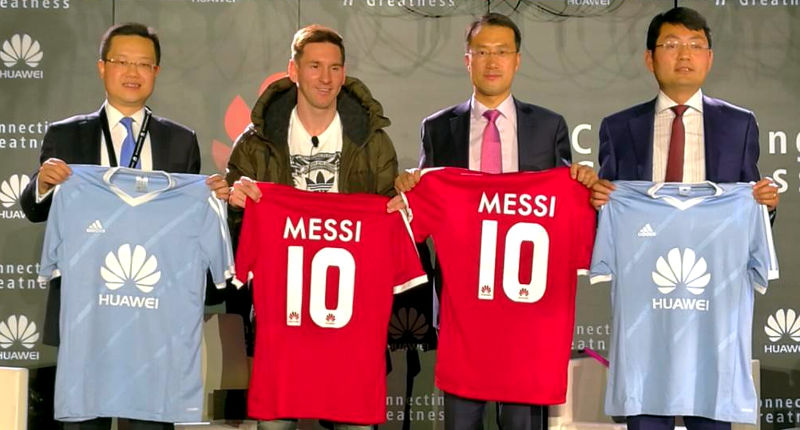 lionel messi huawei