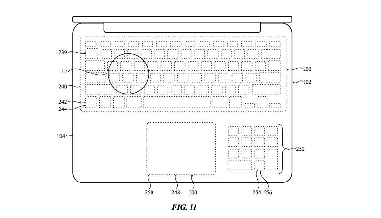apple macbook touchpad klavye