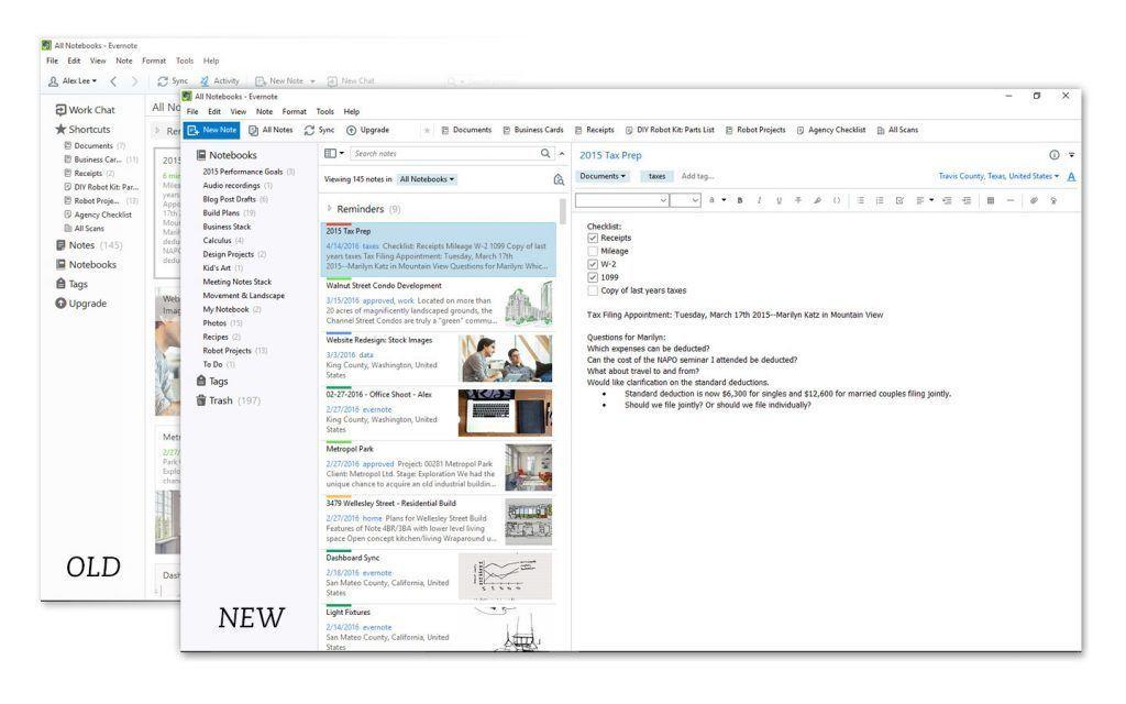 evernote windows uygulaması