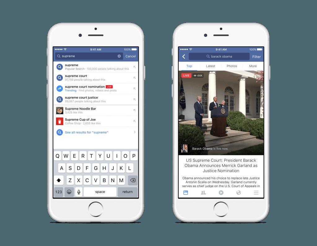 facebook live videolari arama