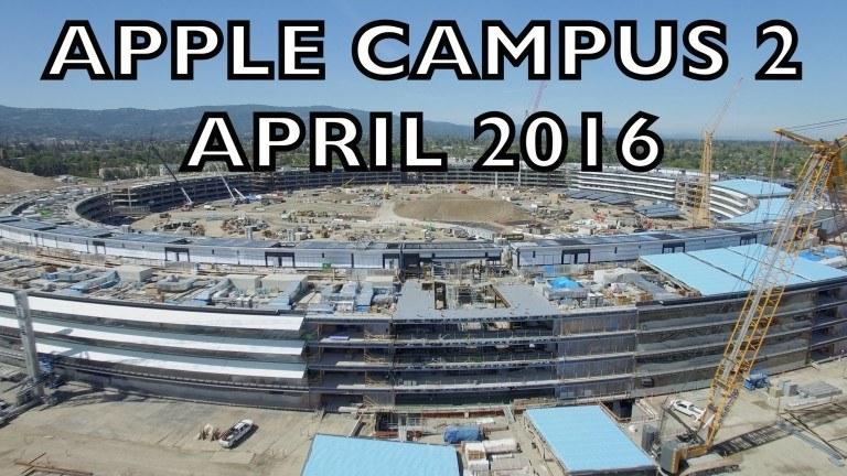 Apple uzay üssü kampüs inşaatından son görüntüler – Video