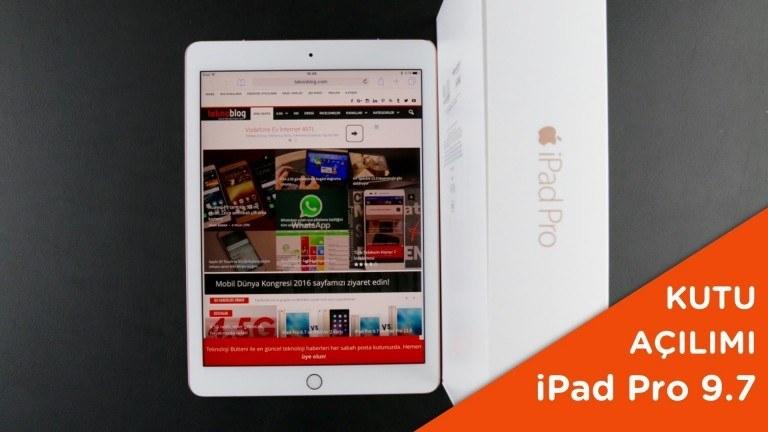 Video: iPad Pro 9.7 Kutusundan Çıkıyor