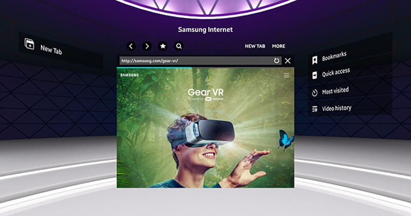 samsung gear vr internet