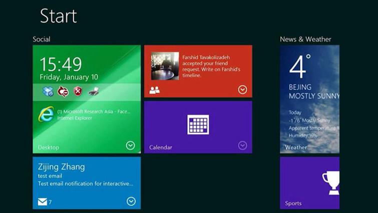 windows 10 interaktif canli kareler