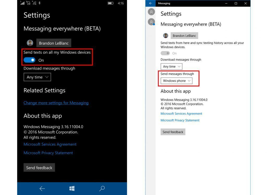 windows 10 mobile on izleme