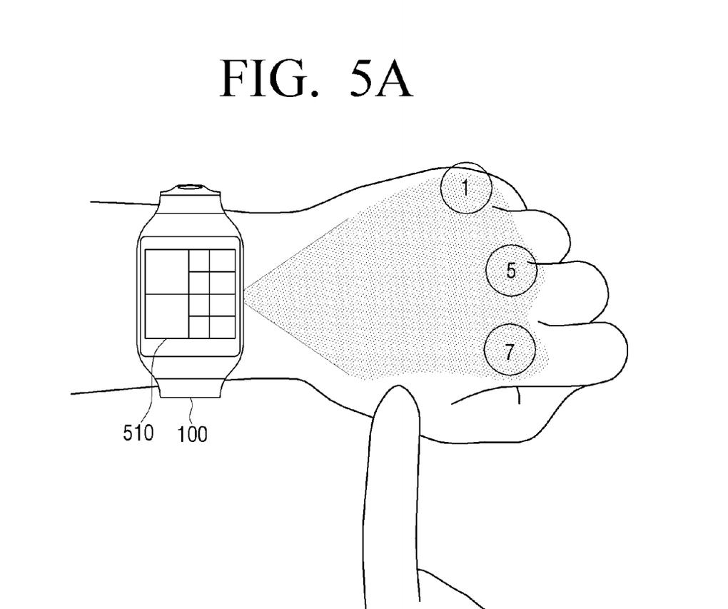 samsung akilli saat projeksiyon patent