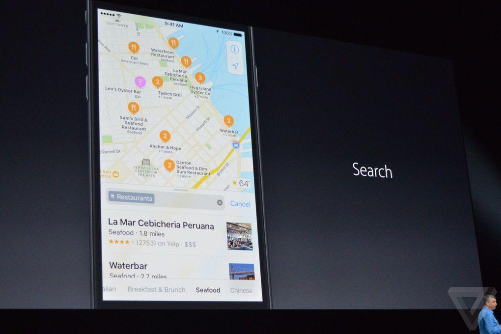 apple harita iOS 10