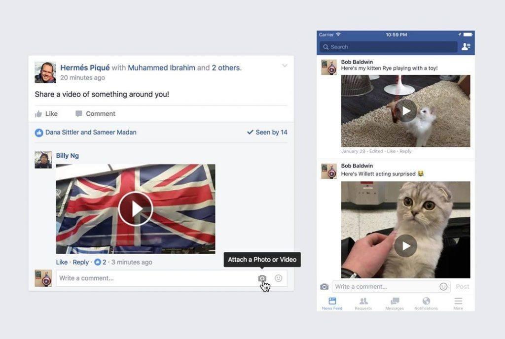 facebook yorum video