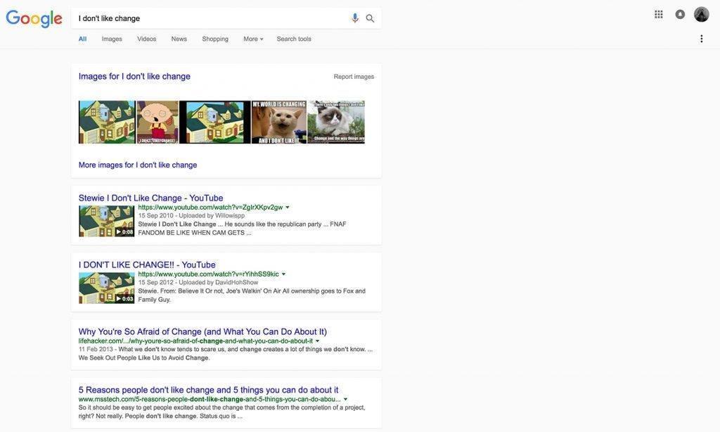 google arama sonuclari yeni tasarim