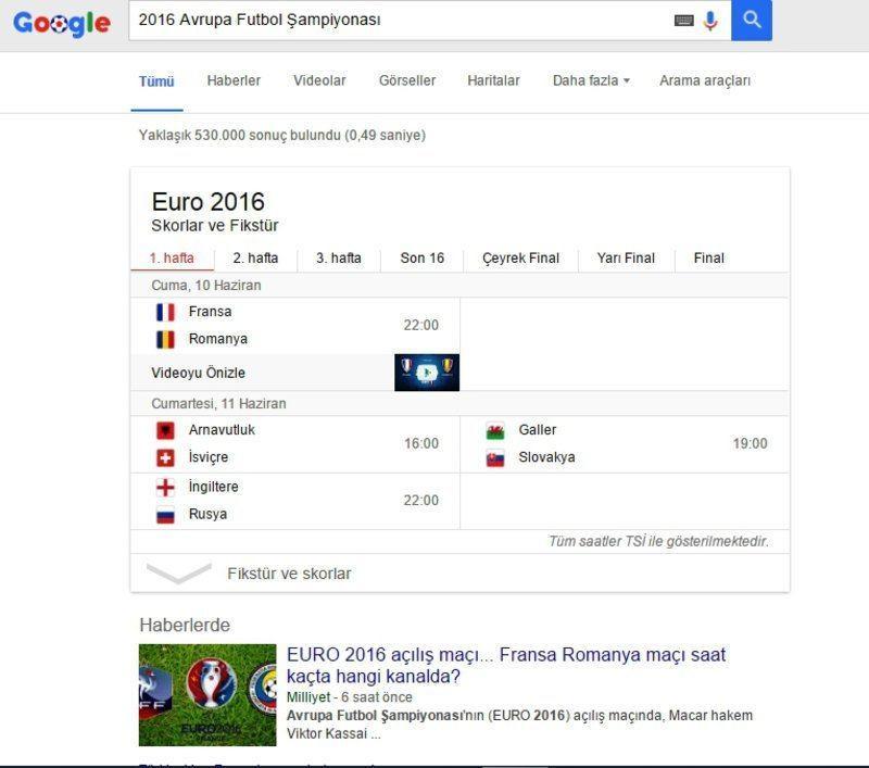 euro 2016 fikstür