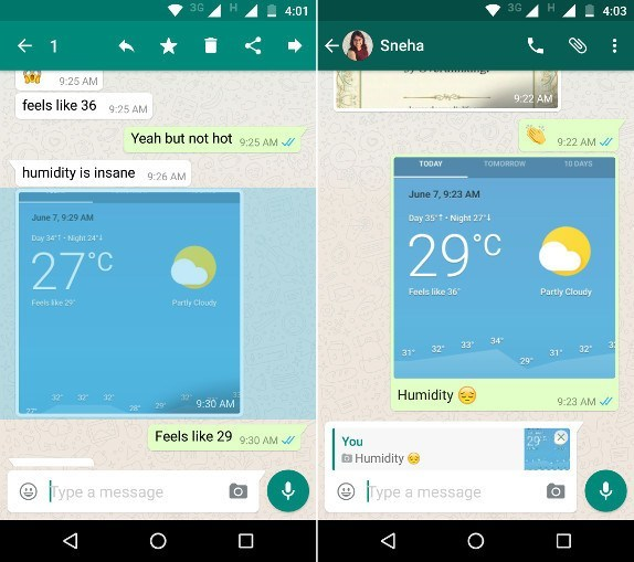 whatsapp android mesaj alintilama