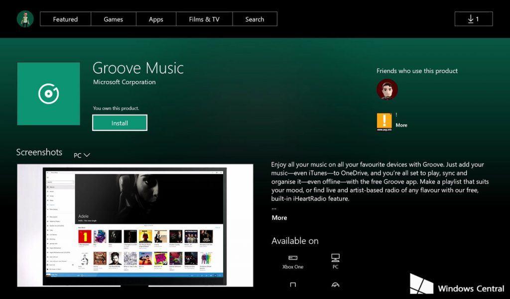 windows 10 uygulamalari xbox one