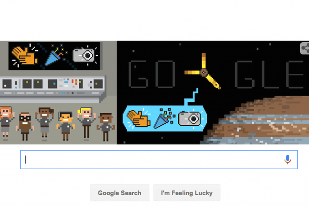 juno uzay google doodle