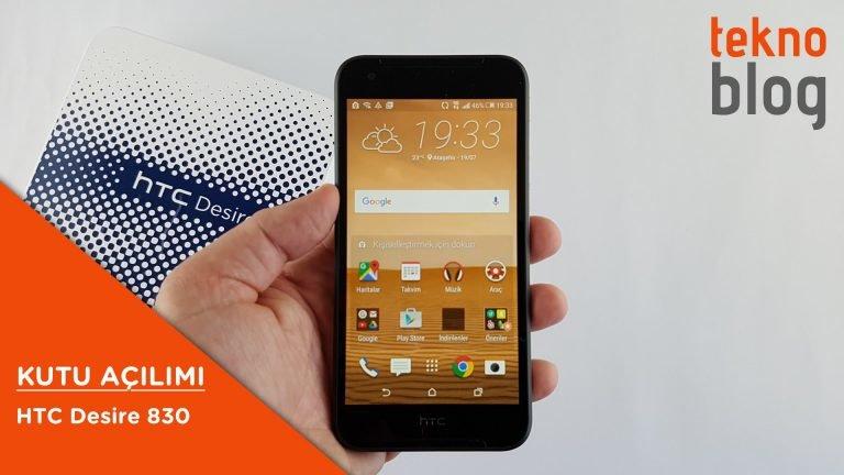 Video: HTC Desire 830 Kutusundan Çıkıyor