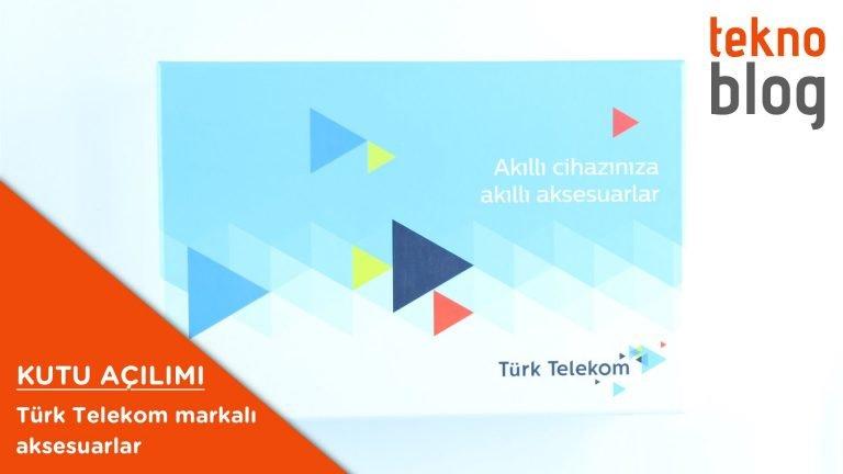 Video: Türk Telekom markalı aksesuarlar kutusundan çıkıyor