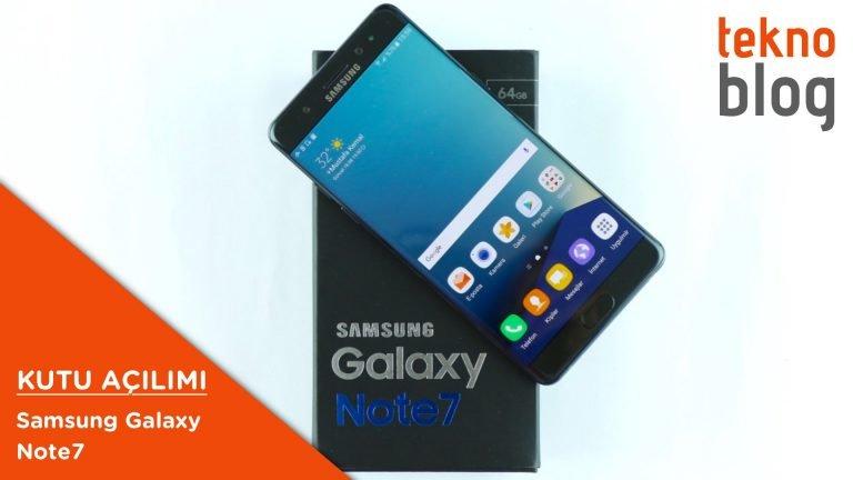 Video: Samsung Galaxy Note 7 Kutusundan Çıkıyor
