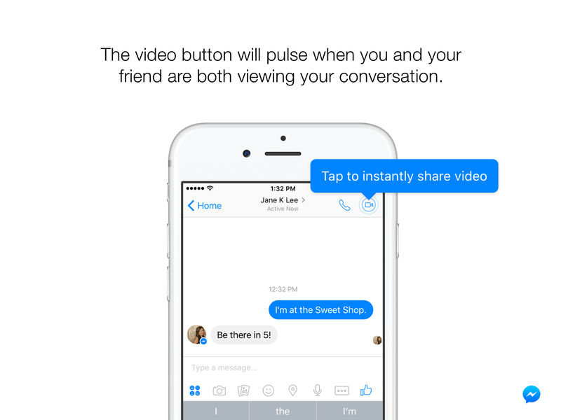 facebook messenger aninda video