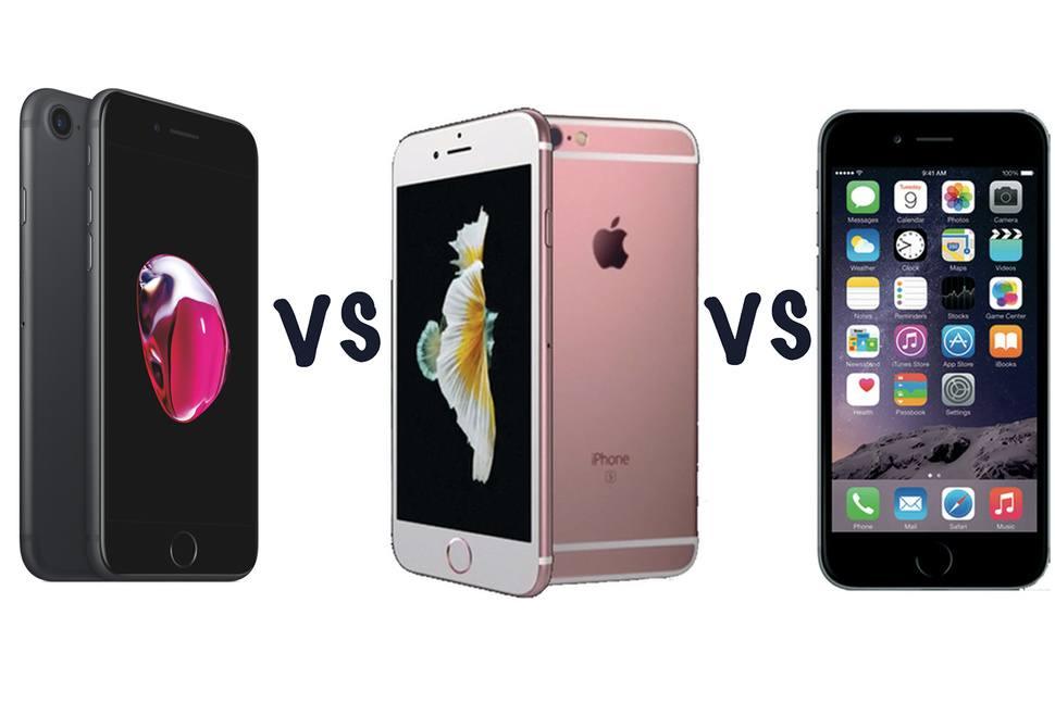 iphone 7 vs iphone 6s vs iphone 6
