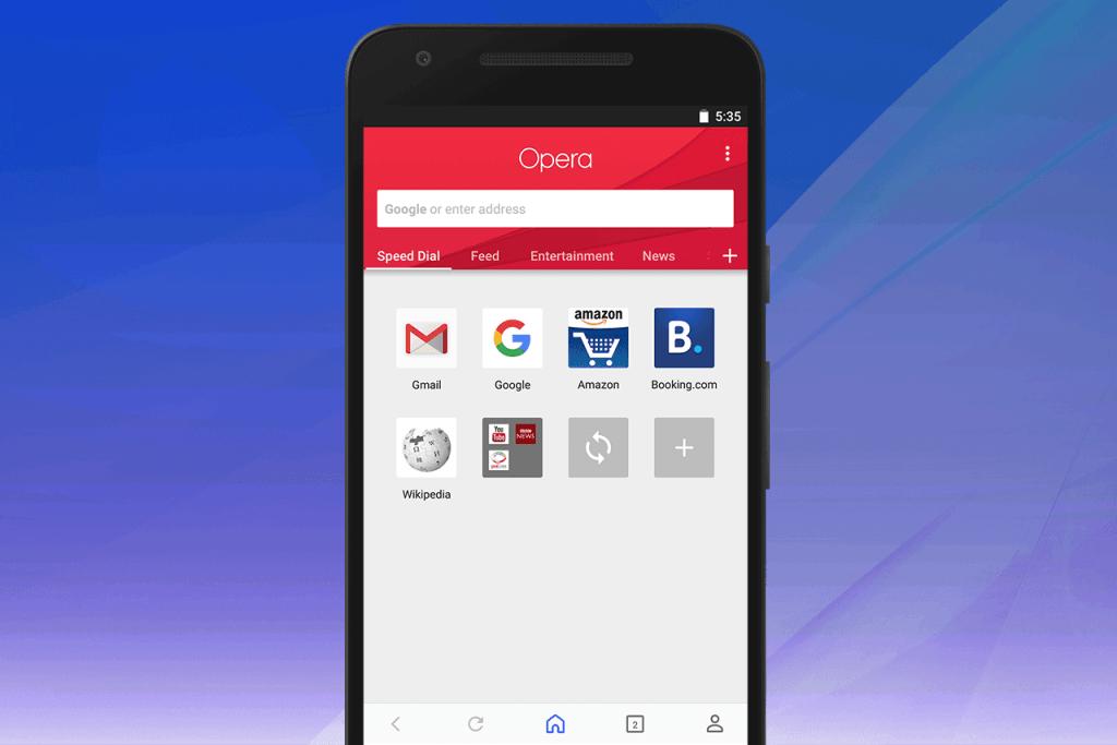 opera android yeni tasarim