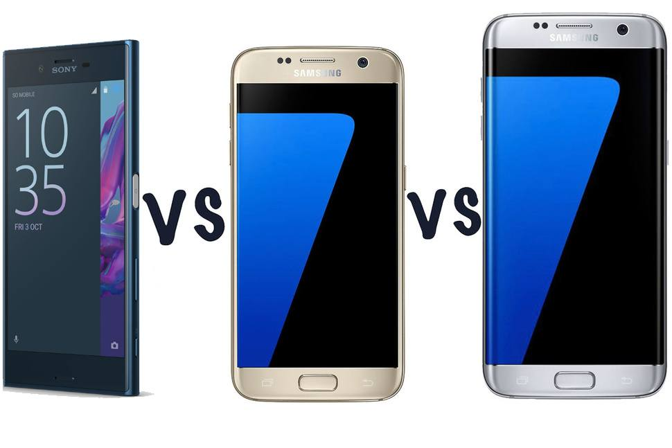 sony xperia xz vs samsung galaxy s7 vs samsung galaxy s7 edge