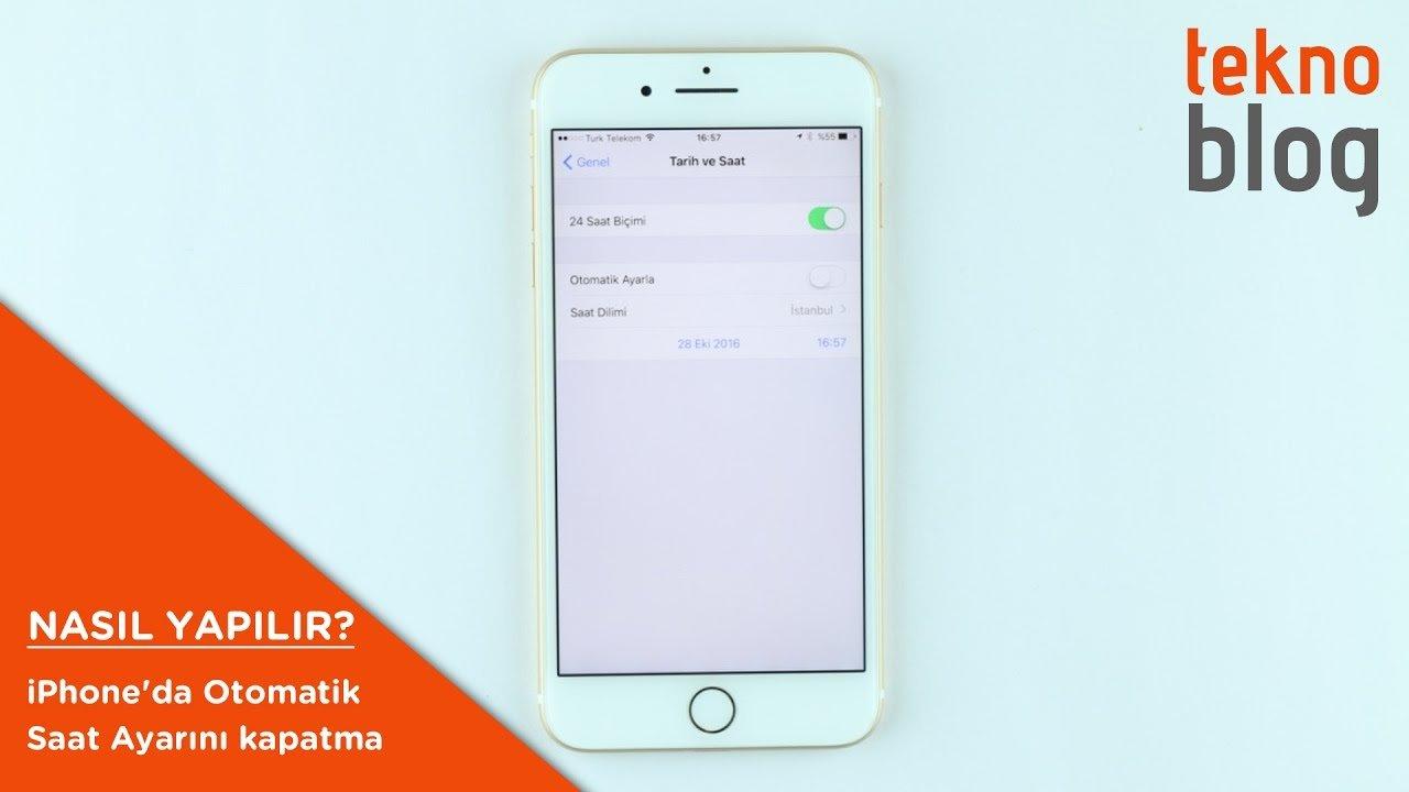 iphone otomatik saat ayarı