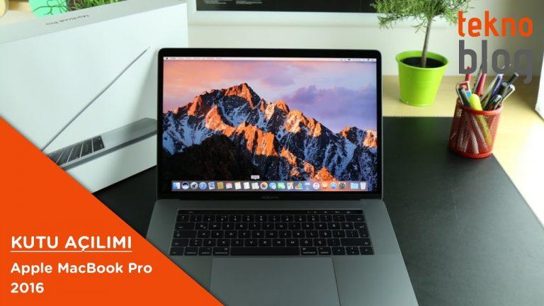 Video: MacBook Pro 2016 (Touch Bar'lı) Kutusundan Çıkıyor (Ön İnceleme)