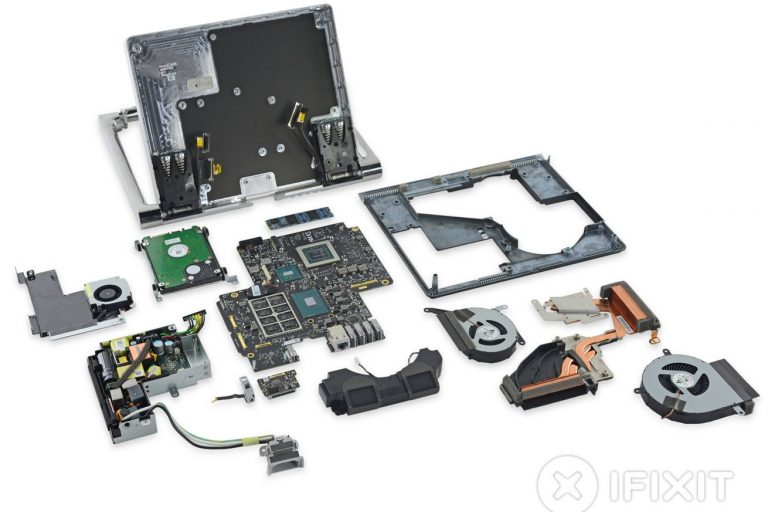 Surface Studio'nun sökümü gizli ARM işlemciyi ve değiştirilebilir sürücüyü ortaya çıkarıyor