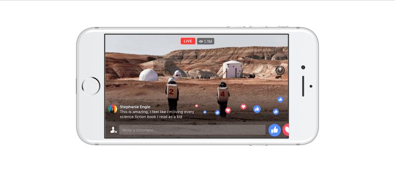 facebook 360 derece canlı video