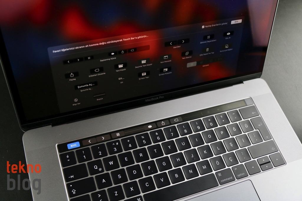 MacBook Pro Touch Bar inceleme