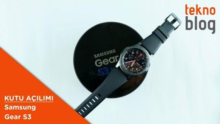 Video: Samsung Gear S3 Kutusundan Çıkıyor