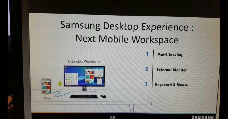 galaxy s8 desktop experience